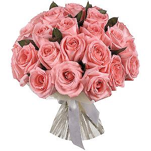 Букет из 25 розовых эквадорских роз