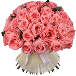 Букет из 51 розовой Эквадорской розы