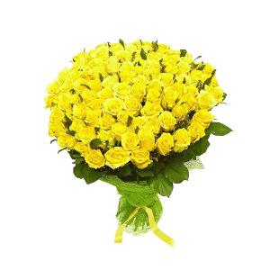 Букет из 101 желтой Эквадорской розы