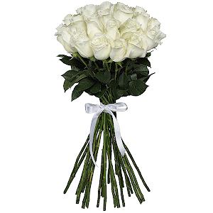Букет из 25 белых роз Эквадор